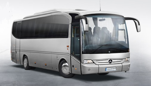 Singapore 44-seater mercedes benz passenger motor coach bus rental, hire with a driver