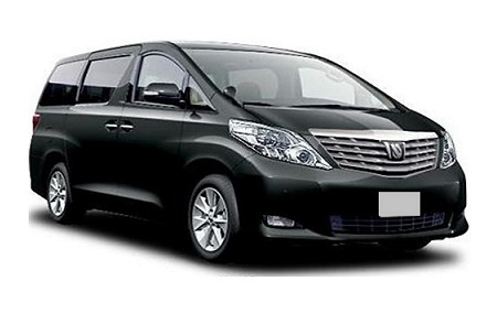 Singapore Toyota Alphard luxury minivan rental, hire with a driver
